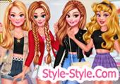 العاب مناكير وتلبيس بنات اميرات في صالون التجميل