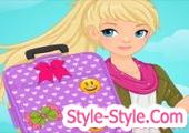 لعبة تلبيس البنت وتزيين الحقيبة