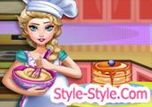 لعبة طبخ الخبز مع السا الحامل
