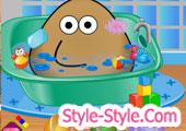 pou bathing games