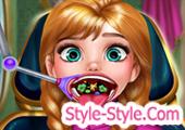 العاب الاميرة آنا تنظيف الفم