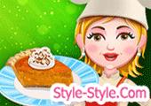 لعبة طبخ فطيرة البطاطا الحلوة