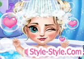 لعبة استحمام بيبي السا فروزن