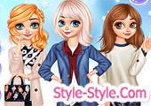 لعبة تلبيس بنات ازياء الشتاء