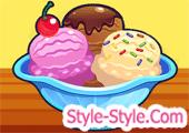 لعبة بيع المثلجات للزبائن