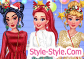لعبة تلبيس الاميرة اريل وصديقاتها