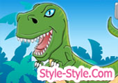 العاب تلبيس الديناصور