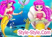 لعبة عروس البحر الصغيرة مع امها