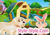 لعبة بناء بيت الحيوانات