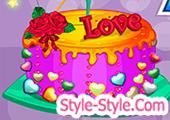 لعبة طبخ كيكة عيد الحب