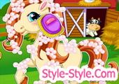 لعبة استحمام الحصان بوني الصغير