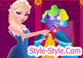 لعبة تصميم فستان السا
