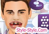 العاب تنظيف الاسنان جاستن بيبر