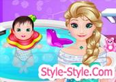 العاب استحمام اطفال مع السا