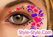 العاب الرسم على الوجه والعيون