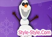 لعبة خياطة وتصميم رجل الثلج