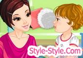 لعبة تلبيس الام وطفلها