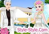 لعبة تلبيس عروسة وعريس السا