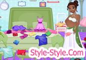 العاب الاميرة تينا الحامل تنظبف الغرفة