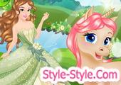 لعبة تلبيس الاميرة والحصان