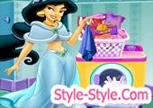 لعبة الاميرة ياسمين غسيل الملابس