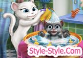 لعبة استحمام بيبي توم وانجيلا