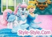 لعبة الاميرة سندريلا تنظيف الحصان