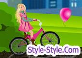 لعبة باربي قيادة الدراجة